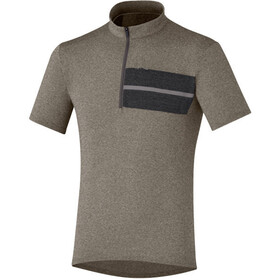 Shimano Transit Pavement Bike Jersey Shortsleeve Men beige